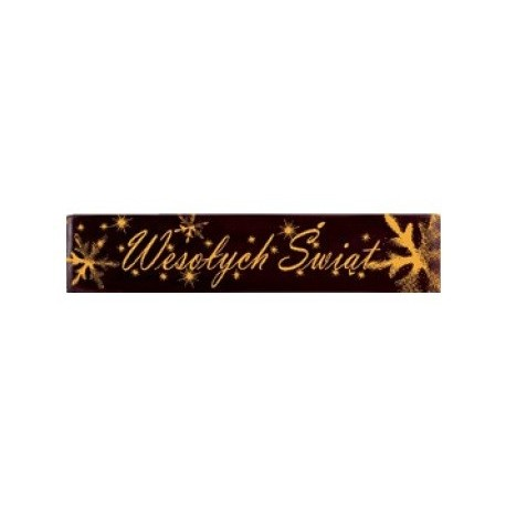 Tabliczki czekoladowe Wesołych Świąt 350szt.