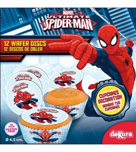 Opłatki na cupcakes Spiderman