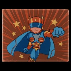 Plakietka czekoladowa Superbohater WOOW