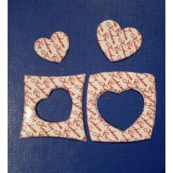 """Dekoracje czekoladowe serca w kwadracie """"Kocham Cię"""""""
