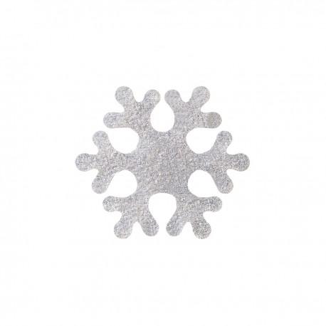 Dekoracje płatki śniegu srebrne