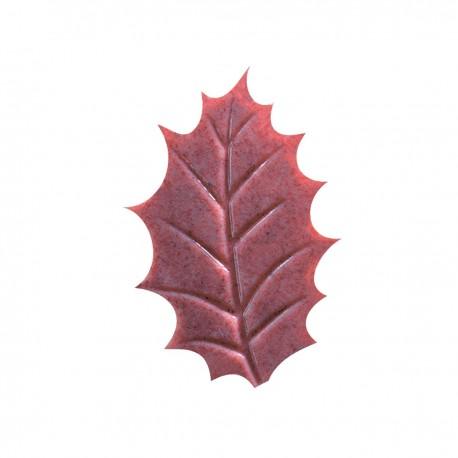 Dekoracja liście z malinami