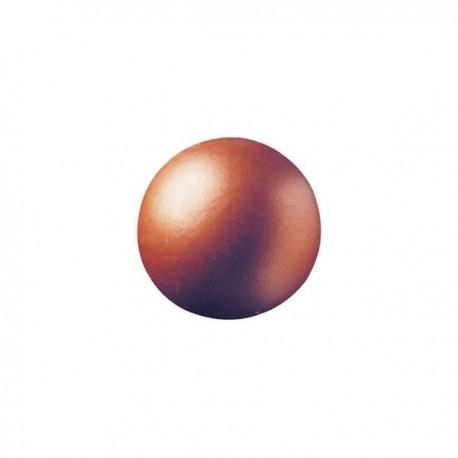 63 czekoladowe kule, miedziane, 2,6cm