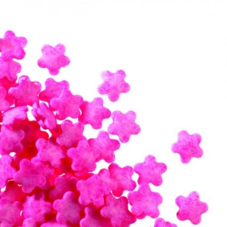 Posypka dekoracja różowe kwiaty
