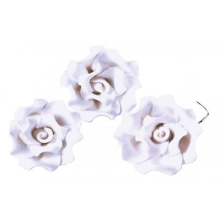Róże cukrowe białe