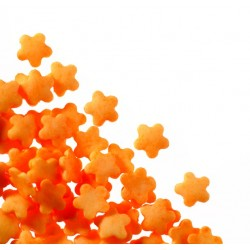Posypka pomarańczowe kwiatki 200g