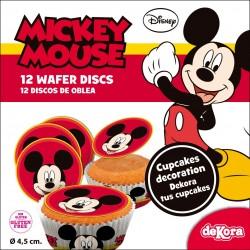 Opłatki na cupcakes Mickey
