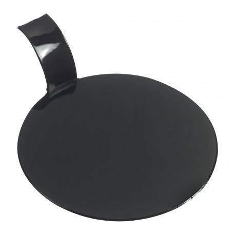 Czarne okrągłe podkładki...