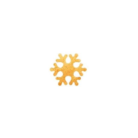 Dekoracja płatki śniegu złote