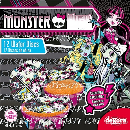 Opłatki na cupcakes Monster High